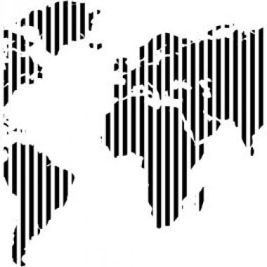 vinilos imagen producto Mapa rayado