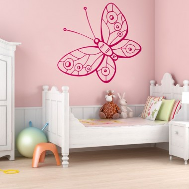 adhesivo decorativo mariposa fantasy
