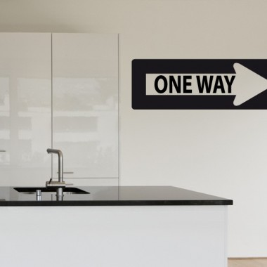 "vinilo decorativo Flecha "" One Way"""