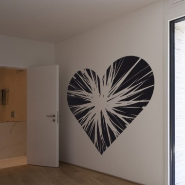 Corazón Partido decoración con vinilo