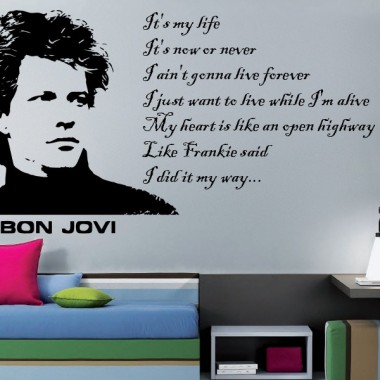 pegatina decorativa Bon Jovi