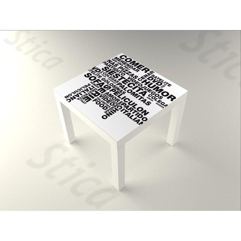 Vinilo palabras mesa 55 x 55 - Vinilos para mesas ...