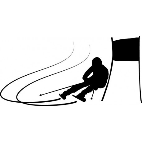 vinilos imagen producto Esquí Slalom