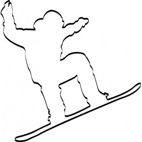 Snowboard I imagen vinilo decorativo