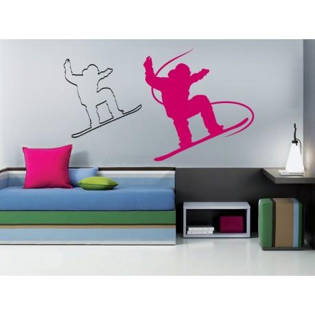 Snowboard II adhesivo decorativo ambiente