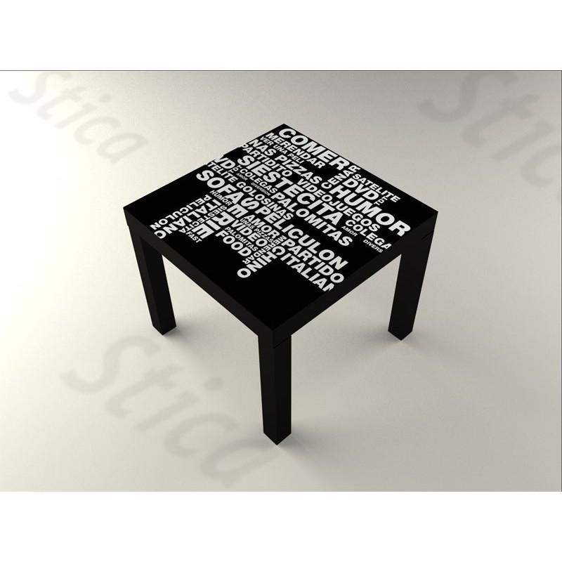 Vinilo palabras ii mesa 55 x 55 - Vinilos para mesas ...