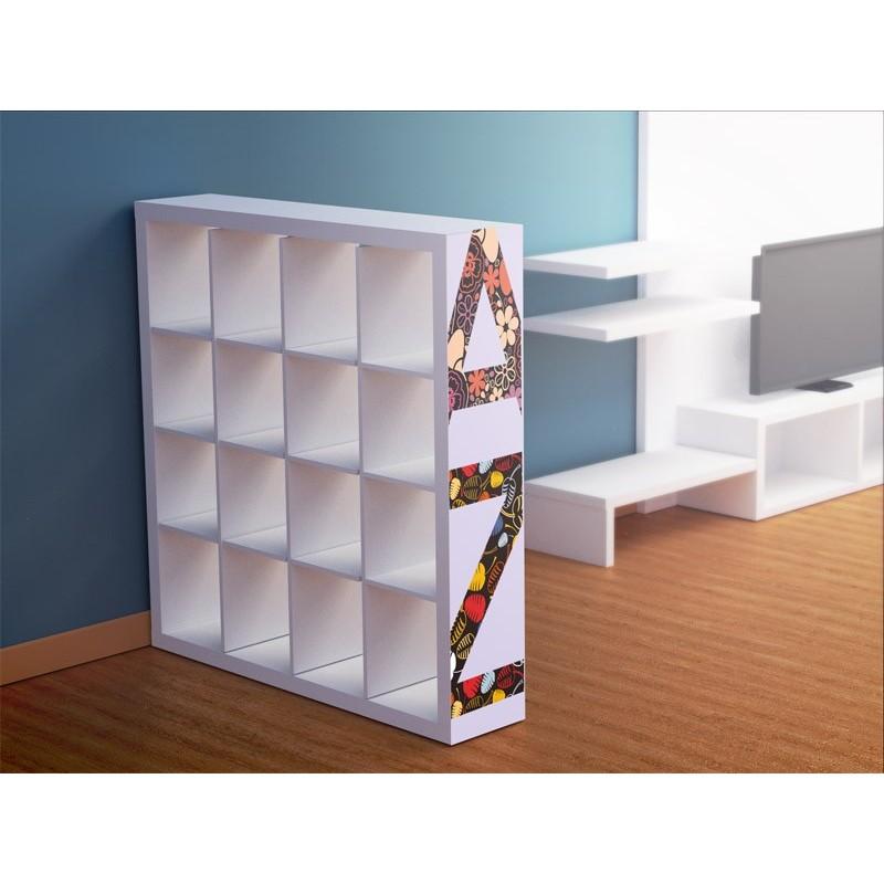 Vinilo letras a z para estanter a - Vinilos para muebles de madera ...