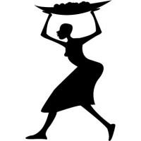 pegatina decorativa Mujer Motivo II