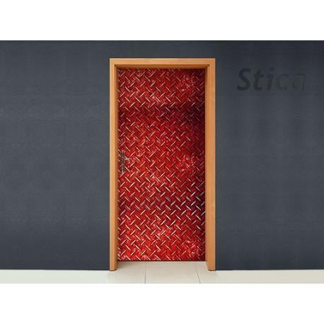 Chapa Metálica Puerta imagen vinilo decorativo