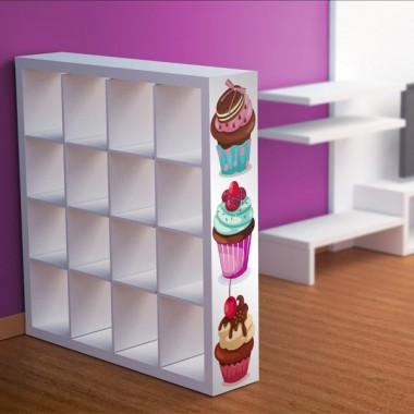 adhesivo decorativo Muffins para Estantería