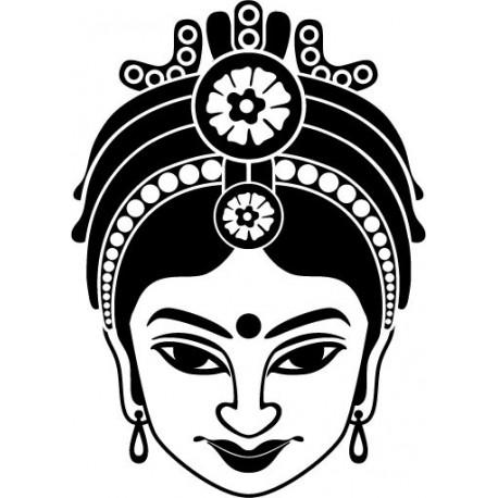 pegatina decorativa Mujer Hindú