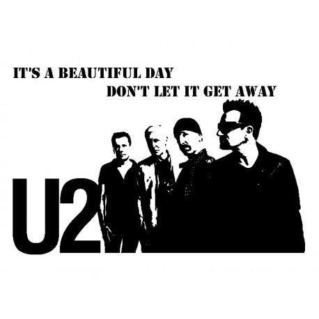 Vinilo U2 Decoración adhesivo decorativo ambiente