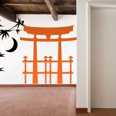 Pagoda Oriental I decoración con vinilo