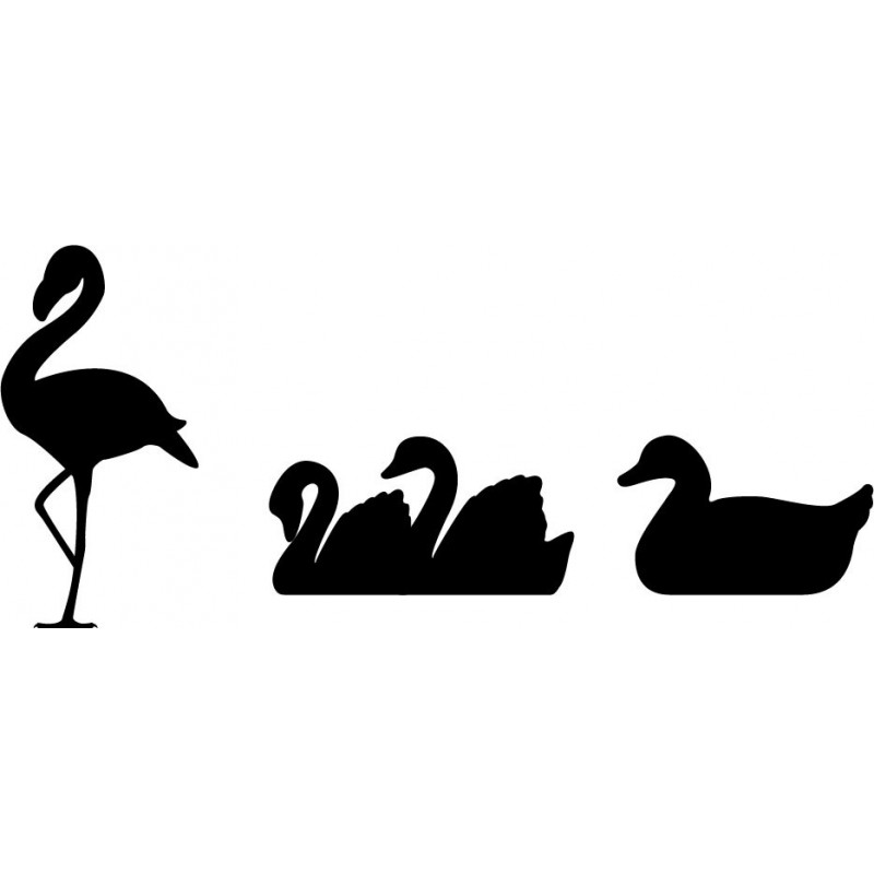 Vinilo aves estanque for Estanque decorativo