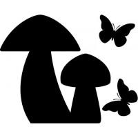 Setas y Mariposas producto vinilos