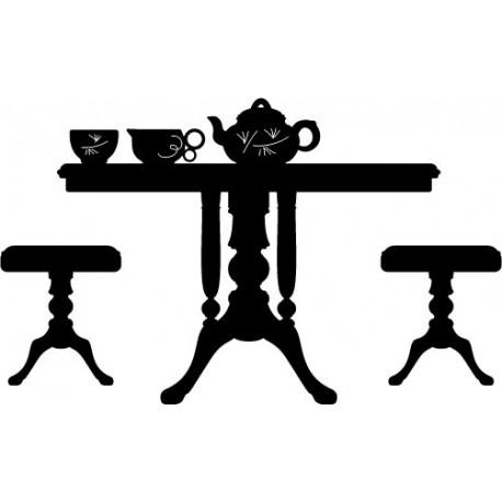 vinilos imagen producto Mesita de Té Oriental