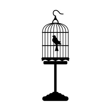 Pájaro Jaula imagen vinilo decorativo