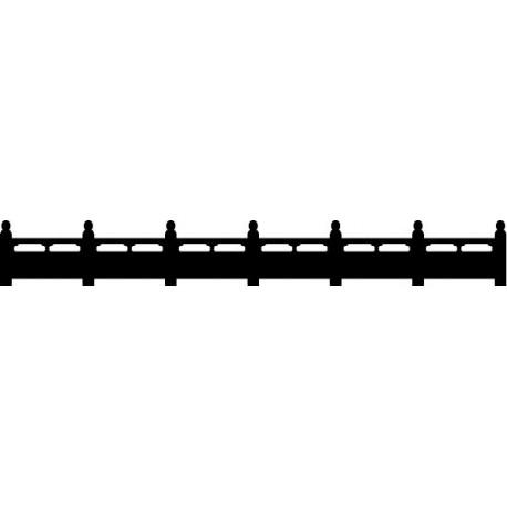 Valla Oriental decoración con vinilo