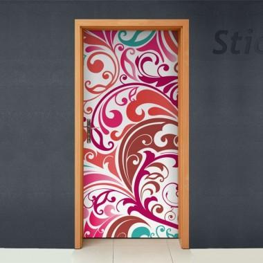 Fantasia Orgánica para Puerta adhesivo decorativo ambiente