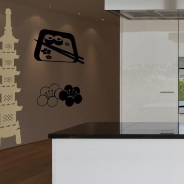 Pagoda Oriental III adhesivo decorativo ambiente