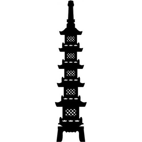 Pagoda Oriental III decoración con vinilo