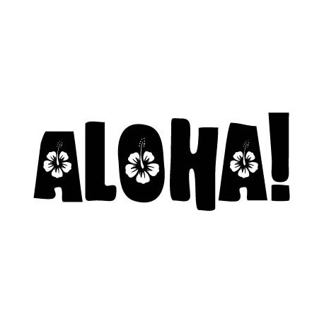 Aloha Motivo adhesivo decorativo ambiente