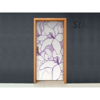 Flor Violeta para Puerta