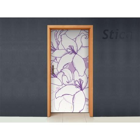 Flor Violeta para Puerta producto vinilos