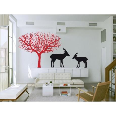 Árbol Sabana II adhesivo decorativo ambiente