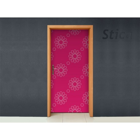 vinilo decorativo Fantasia Rosa para Puerta
