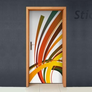pegatina decorativa Fantasia Orgánica para Puerta