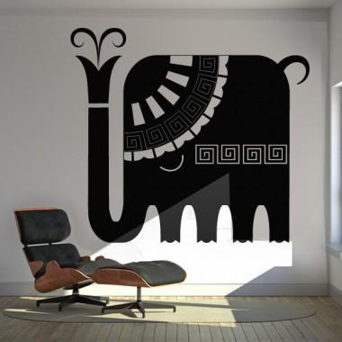 pegatina decorativa Elefante Étnico