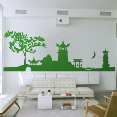 pegatina pared Skyline Yunnan