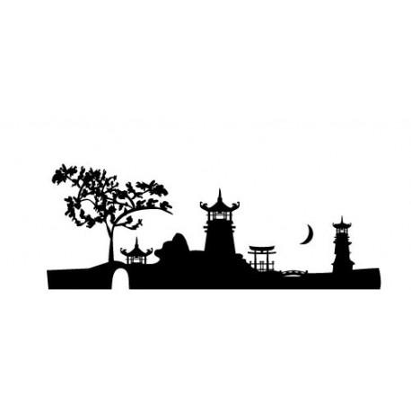 Skyline Yunnan imagen vinilo decorativo