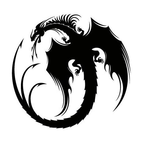 Dragón Motivo I adhesivo decorativo ambiente