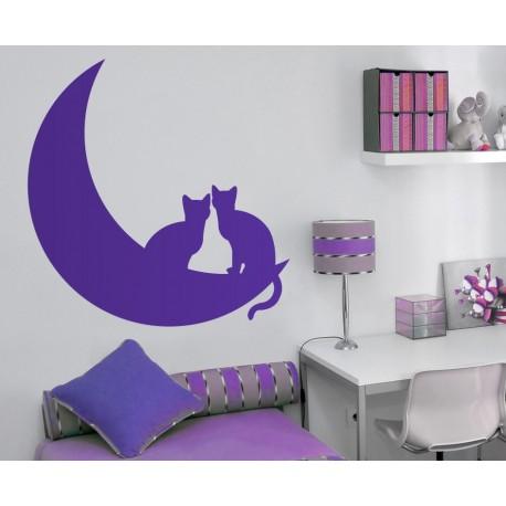 adhesivo decorativo Gato en Luna II