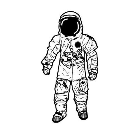 vinilos imagen producto Astronauta Motivo I