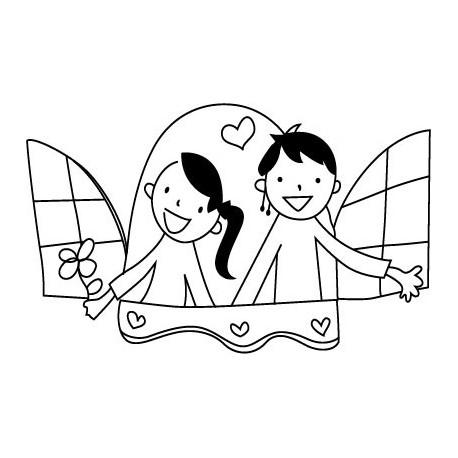 Niños Ventana Motivo I imagen vinilo decorativo