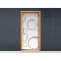 Burbujas para puerta imagen vinilo decorativo