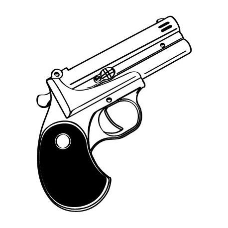 Pistola Motivo decoración con vinilo