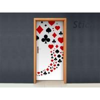 Poker para Puerta adhesivo decorativo ambiente