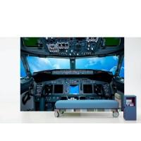 Fotomural Cabina Avión Nubes