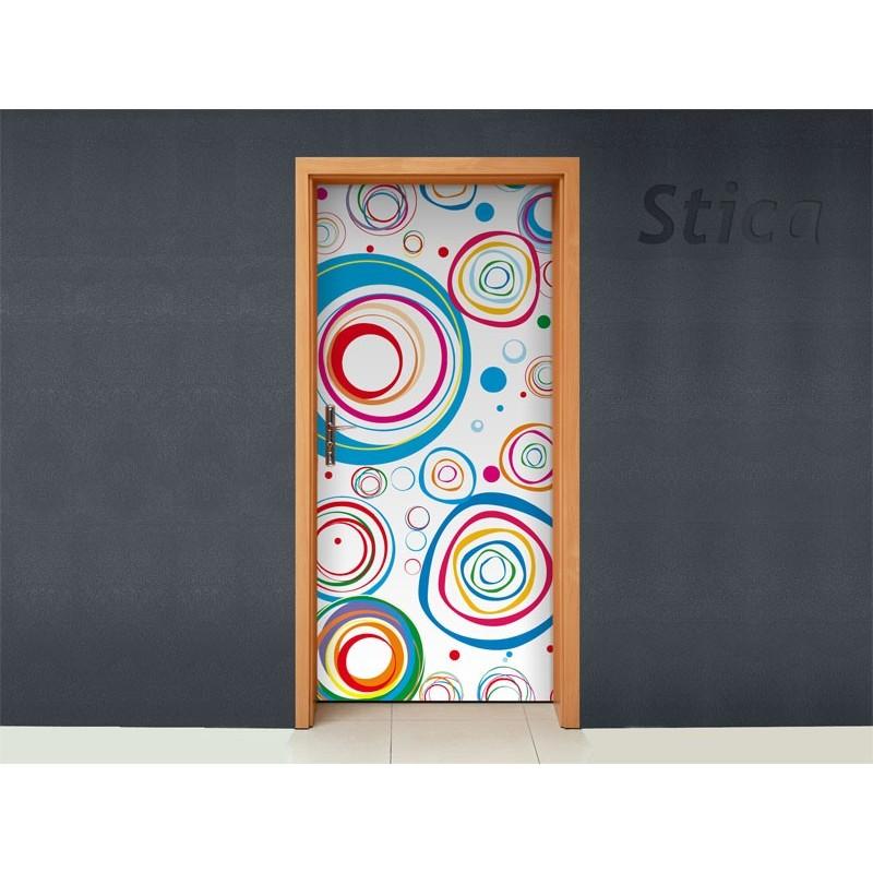 Vinilo circulos colores para puerta - Vinilos para puerta ...