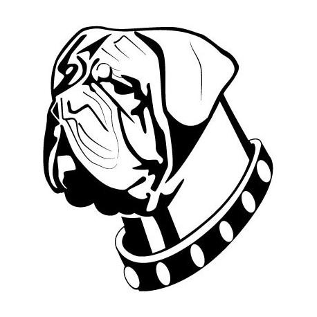 Perro Boxer imagen vinilo decorativo