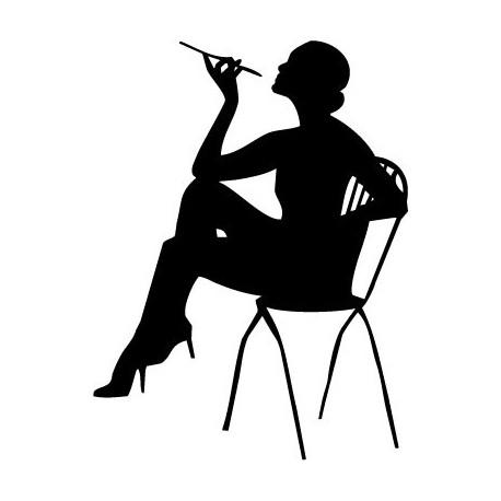 pegatina pared Mujer Fumando
