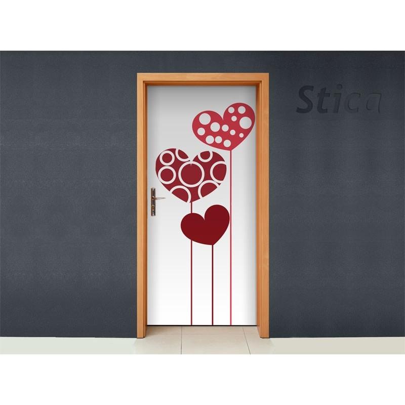 Vinilo corazones para puerta - Vinilos decorativos para puertas ...