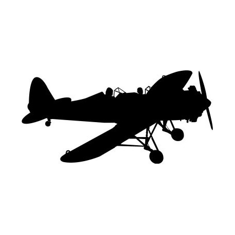 vinilo decorativo Avioneta Motivo I