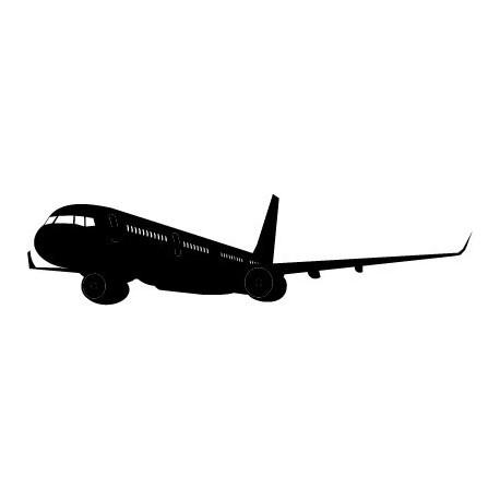 Avión Motivo III decoración con vinilo