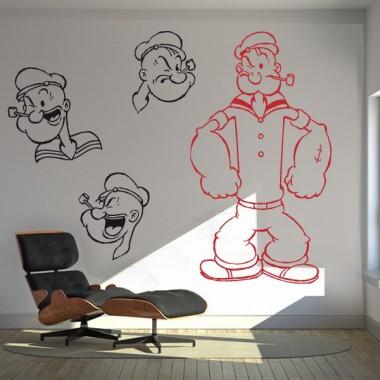 adhesivo decorativo Popeye Cuerpo I