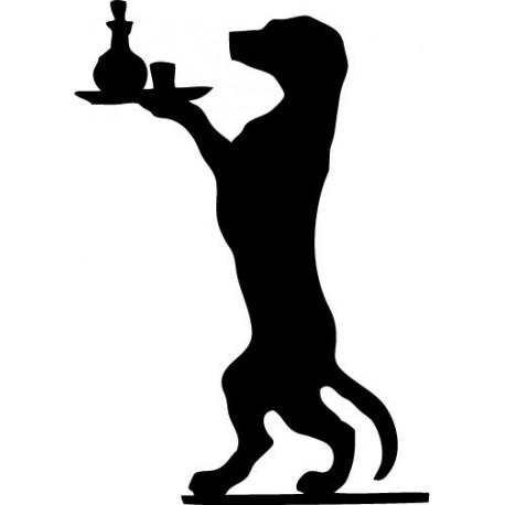 Perro Bandeja decoración con vinilo